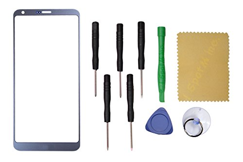 Outer Front Screen Glass Lens Replacement for LG G6 LS993 VS998 H872+Tools (Ice ()