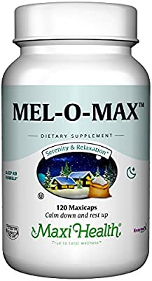 Maxi Health Mel-O-Max Melatonin with Valerian Root Sleep Aid
