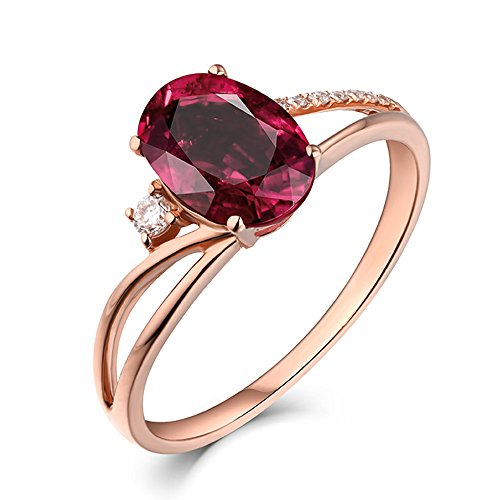 Unique Fashion 1.18ct Genuine Pink Tourmaline Gemstone Diamond Wedding Marry Solid 22K Rose Gold Ring Set for Women
