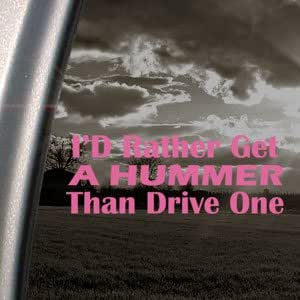 Hummer Joker Pink Decal Jeep Wrangler CJ YJ Land Cruiser Pink Sticker