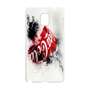 coca cola background Samsung Galaxy Note 4 Cell Phone Case White 53Go-219842