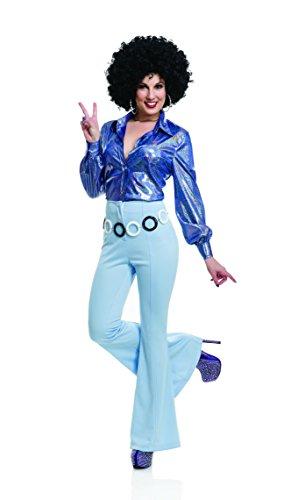 Charades Women's 1970's Disco Pants, Powder Blue, ()