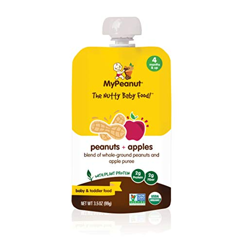 MyPeanut Baby Food, Organic Stage 1 Peanut and Apple Puree for Introducing and Feeding Babies and Toddlers Nuts, Non-GMO, BPA Free 3.5 oz Pouch, 24 Pack by MyPeanut (Image #8)