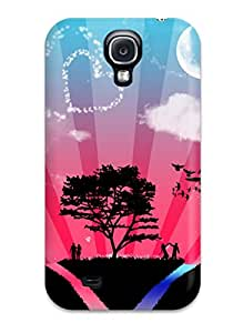 High Quality Shock Absorbing Case For Galaxy S4-world Of Love 5765744K90546398