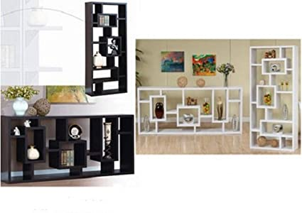 Display Shelves For Collectibles >> Amazon Com Contemporary Modern Display Shelves Cabinet Unit