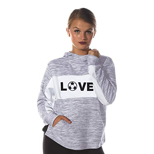 Love Soccer Funnel Hoodie - Gift Idea for Soccer Fans/Player Cool Women Hoodie