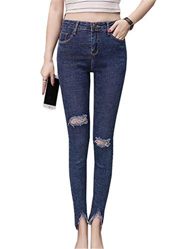 Jeans Jeans Skinny DaBag Blu Pantaloni Blu Denim Donna Legging Slim Fit wF7TTxnB