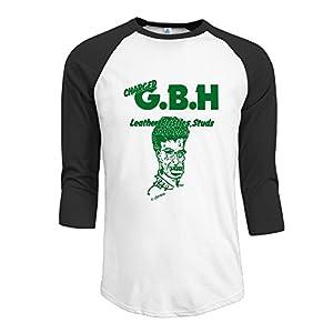 Charged GBH English Street Punk Band Mens 3/4 Sleeve Raglan Tops Shirt Cool T-shirts Men