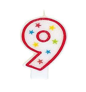 Amazon Glitter Number 9 Birthday Candle Happy Cake