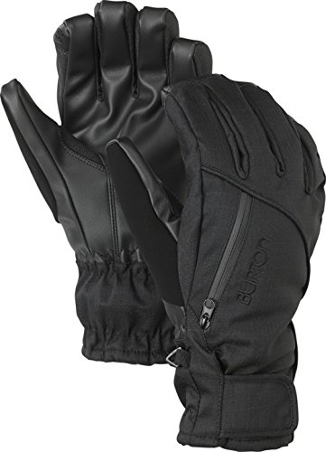 BURTON Women's Baker 2-in-1 Under Gloves, True Black, Medium