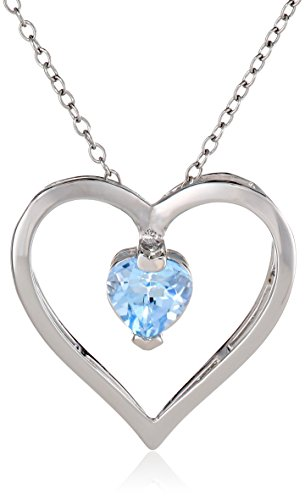 """Sterling Silver Open Heart Pendant Necklace, 18"""""""