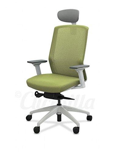Clicksilla - Silla de oficina zen con cabezal, color Verde/Blanco: Amazon.es: Hogar