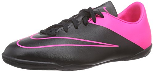 Nike Jr. Victory V IC Indoor Soccer Shoe (Black, Hyper Pink) Sz. 3Y - Indoor Soccer Girls Nike