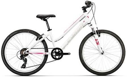 Conor Bicicleta 440 Lady Blanco Rosa. Bicicleta Junior para Ocio Dos Ruedas. Bici para niños de 7 a 12 años. Bike para niñas. Ruedas 24 Pulgadas. Cambio de 7 velocidades.: Amazon.es: Deportes y aire libre