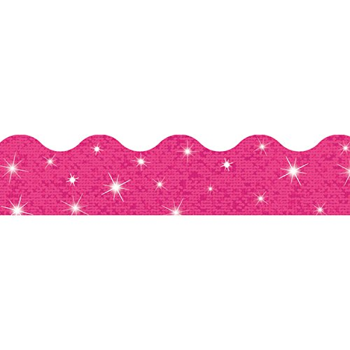 TREND enterprises, Inc. Hot Pink Sparkle Terrific Trimmers, 32.5 ft (Hot Pink Border)