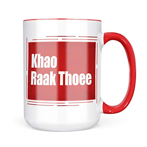 Neonblond Custom Coffee Mug I Love You ThaI Red Rose from Tailand 15oz Personalized Name