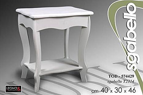 Tavolino sgabello in legno bianco cm amazon casa e