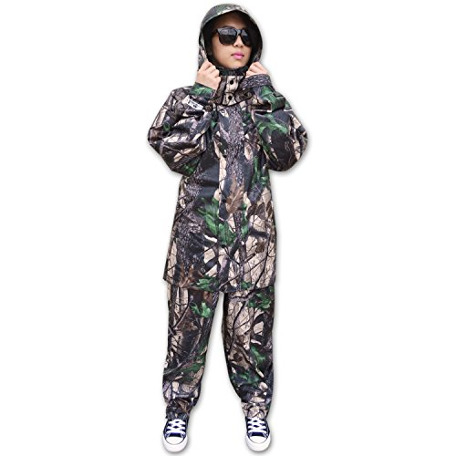 Review KwikSafety HUNTSMAN | Camouflage Hunting Rain Suit Set | All Year Outdoor Recreational Wear | Waterproof Windproof Quick Dry Long Sleeve Hood Zip Up and Bottoms | Fishing Shooting Camo Gear | Small