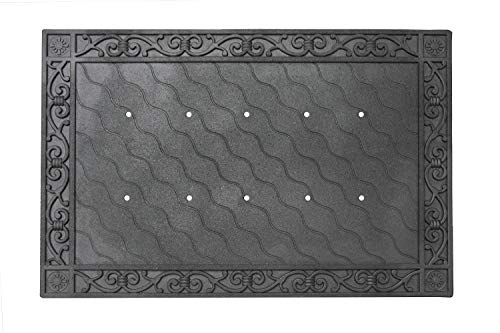 (Toland Home Garden 850100 Recycled Rubber Holder Doormat Tray, 24