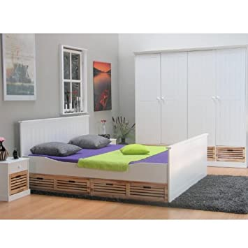 Komplett Schlafzimmer Paulina Kleiderschrank Bett Doppelbett ...