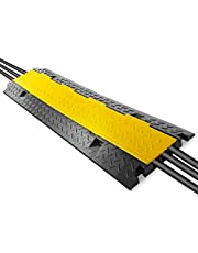 """Pyle Durable Cable Protective Ramp Cover - Supports 33000lbs Three Channel Heavy Duty Cord Protection w/Flip-Open Top Cover, 35.4"""" x 13.6"""" x 1.96"""" Cable Concealer for Indoor Outdoor Use - PCBLCO105"""