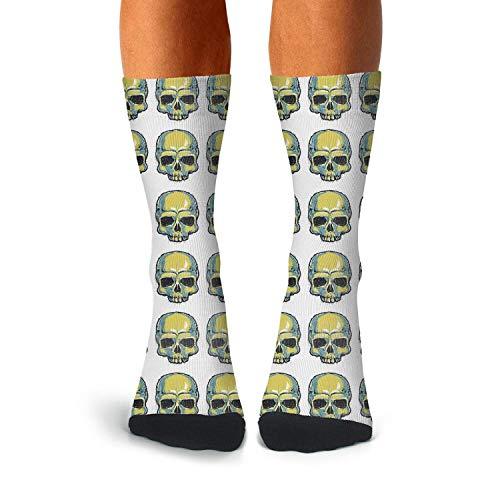 Mens Crew Socks skull sugar skull want u Colorful Socks -