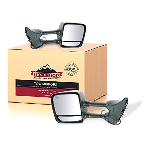 Trail Ridge Mirror Power Heated Memory Chrome Towing Pair for Nissan Titan ()