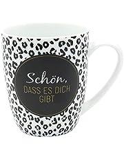 Dekohelden24 Koffiebeker/mok van porselein, motief: mooi, dat er je beschikt. Afmetingen H/Ø: 9,8 x 8,2 cm, inhoud 250 ml, vaatwasmachinebestendig, koffiemok