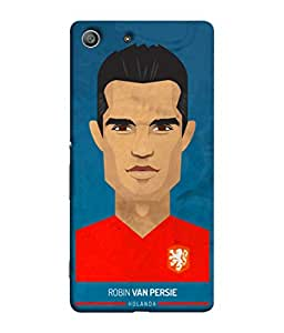 ColorKing Football Persie Holand 01 Blue shell case cover for Sony Xperia Z3