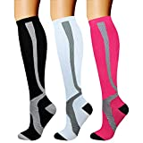 CHARMKING Compression Socks (3 Pairs) 15-20 mmHg is Best Athletic & Medical for Men & Women, Running, Flight, Travel, Nurses, Edema - Boost Performance, Blood Circulation & Recovery (S/M, Assorted 11)