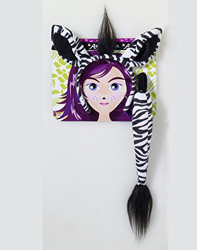 Forum Novelties Women's Playful Animals Zebra Costume Accessory Set