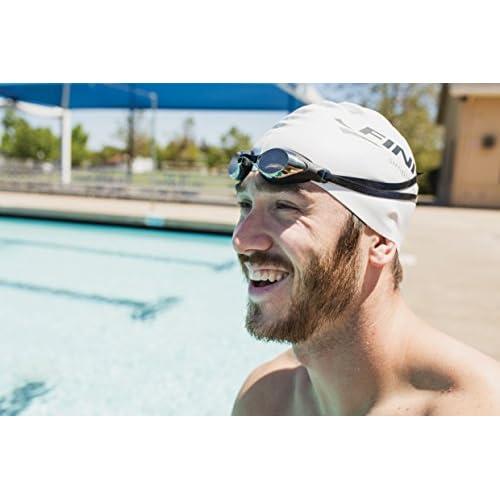 FINIS Unisexe Strike Lunettes de natation, Noir, taille unique