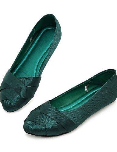 Ballerine Green Donna Punta Blu Scarpe Nero Verde Casual ShangYi Piatto Seta arrotondata Rosso Grigio ZSOExwqCw