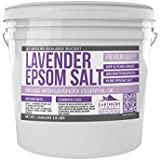 Lavender Epsom Salt (1 Gallon Bucket, 8 lb) by Earthborn Elements, Infused with Lavender Essential Oil, Promotes Relaxation & Sleep, Stress Relief, Aromatherapy