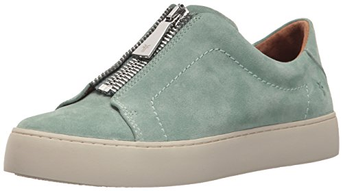 FRYE Women's Lena Zip Low Sneaker, Mint, 7.5 M US