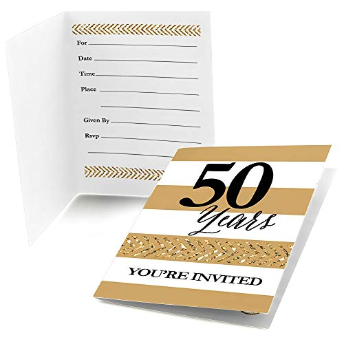 Big Dot of Happiness We Still Do - 50th Wedding Anniversary - Fill in Anniversary Party Invitations (8 Count) ()
