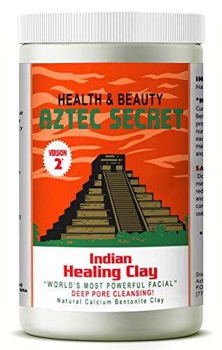 Aztec Secret – Indian Healing Clay – 2 lb. | Deep Pore Cleansing Facial & Body Mask | The Original 100% Natural Calcium…