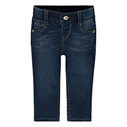 Levi\'s Girls\' Baby Rib Waistband Skinny Jean, Blue Winds, 18 Months