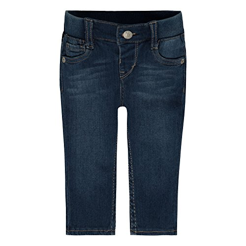 Levi's Baby Girls' Rib Waistband Skinny Jean, Blue Winds, 3/6 Months (Baby Levi Jeans Girls)