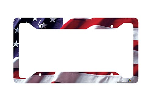 Airstrike American Flag License Plate Frame, American Flag License Plate Holder, American Flag Frame-30-235