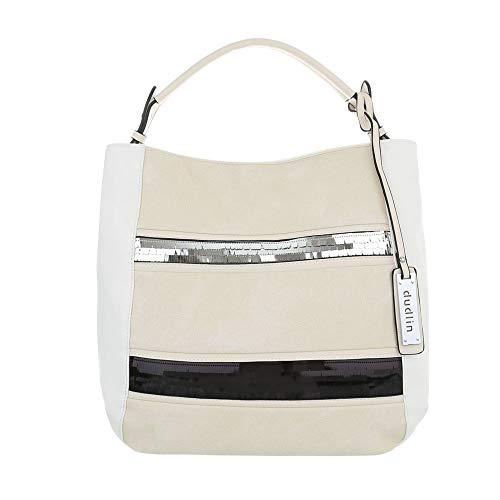 à l'épaule Sac femme à Weiß One pour Ital Size Design porter Blanc Beige xn0wqYtRI5
