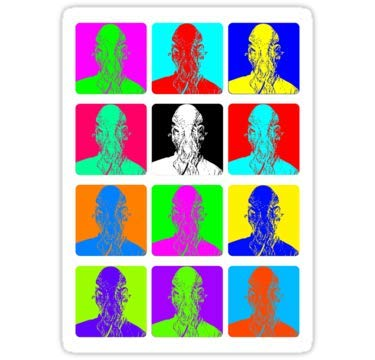 Lancy's Artwork Doctor Who - Andy Warhol (OOD) - 4x4 - Doctor Who Dr Who Sticker (Andy Warhol Best Work)