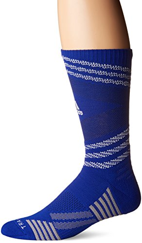 - adidas Speed Mesh Basketball/Football Team Crew Socks (1-Pack), Bold Blue/White/Unity Ink Purple/Light Onix, Large