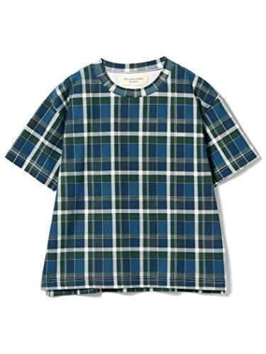 (빔스 보이)BEAMS BOY/T셔츠/마드라스 크루 넥 T셔츠 레이디스