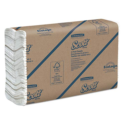 Price comparison product image Scott 02920 C-Fold Paper Towels,  100% Recycled,  10 1 / 10 x 13 1 / 5,  200 per Pack (Case of 12 Packs)