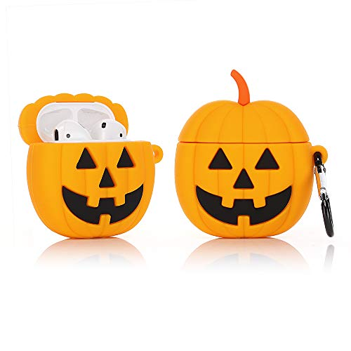 Pumpkins For Halloween (LEWOTE Airpods Silicone Case Funny Cute Cover Compatible for Apple Airpods 1&2[Fruit and Vegetable Series][Best Gift for Girls or Couples] (Helloween)