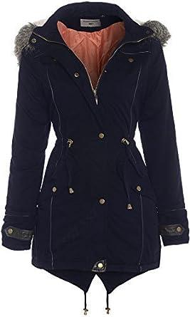 SS7 - OVERSIZED HOOD Parka Womens Coat Sizes 8 - 24 (UK - 22, Navy ...