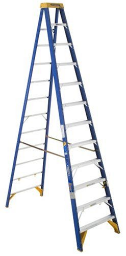 Werner OBEL12 Old Blue Electricians 375-Pound Duty Rating Fiberglass Stepladder/Job Station, 12-Foot