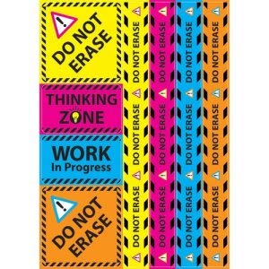 Write-On//Wipe-Off 8//ST 9 Sets AST 12x17 Ashley Magnetic Sign Sets