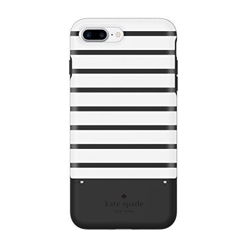 kate spade new york Credit Card Case for iPhone 7 Plus - Surprise Stripe Black / White